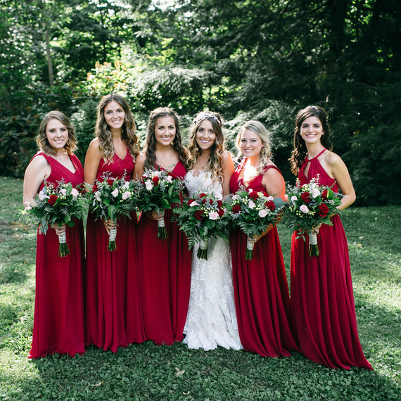 Bridesmaids Dresses Wedding Party in Red