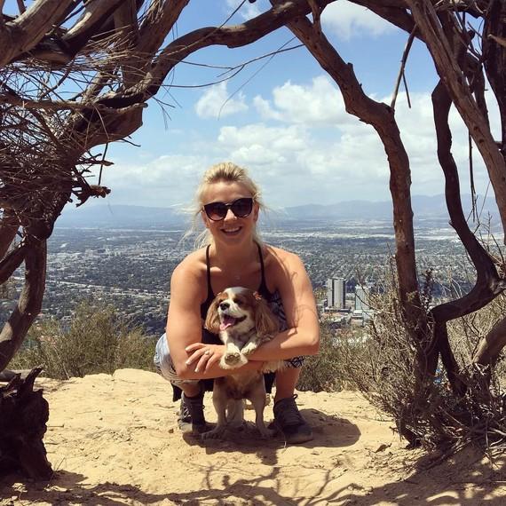 Brooks Laich Instagram photo of fiancee Julianne Hough on a hike