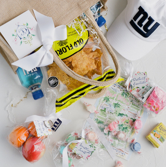 chelsea conor wedding welcome bag