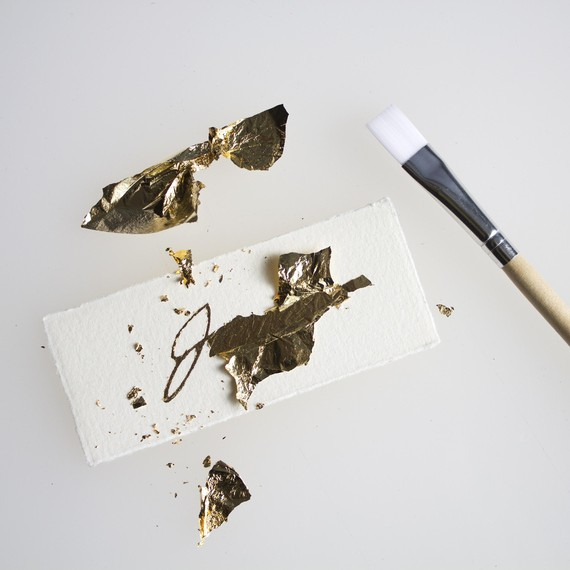DIY Gold Leaf Place Card Step 3
