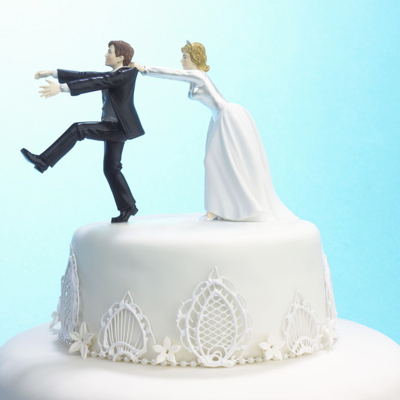 5 things to know about pre wedding jitters martha stewart weddings Wedding Jitters funny cake topper crazy marriage laws 0716 jpg wedding jitters