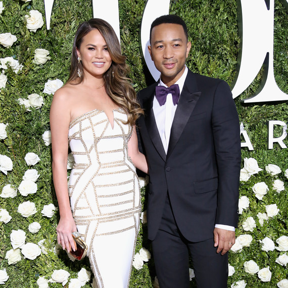 Chrissy Teigen and John Legend at 2017 Tony Awards