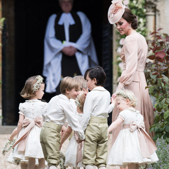 Duchess Kate with Charlotte and George at Pippa Middleton wedding
