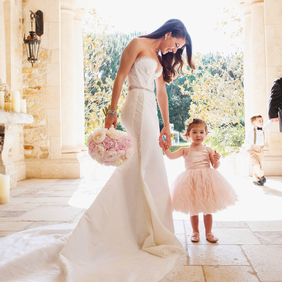 Lauren Gores with Flower Girl