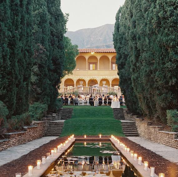 emme daji wedding reception venue candles
