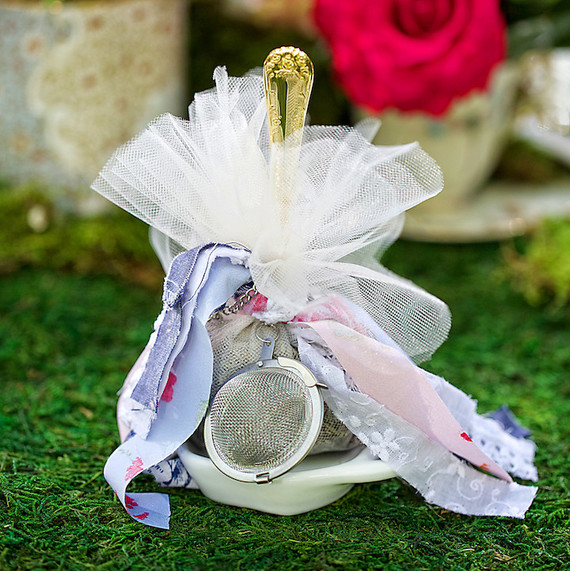 English garden tea party favors
