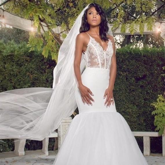 Eniko Parrish ceremony wedding dress
