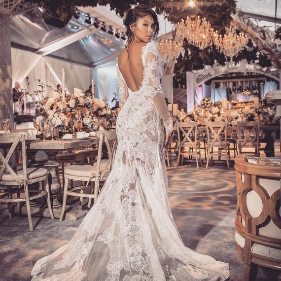 Eniko parrish wore two amazing vera wang gowns for her wedding to eniko parrish vera wang wedding reception dress junglespirit Images