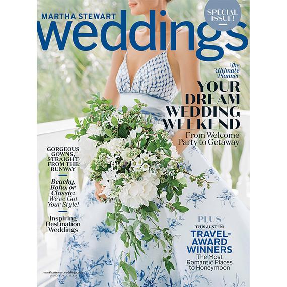 martha stewart weddings fall 2018 cover