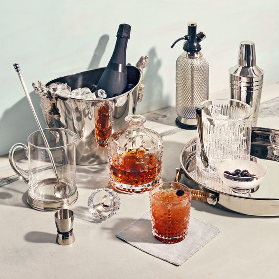 seasonal silver cocktail serve ware