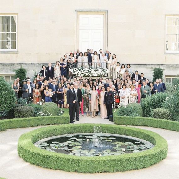 momina jack wedding guests group shot