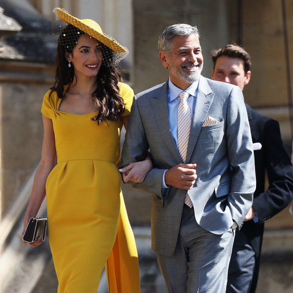 Amal Clooney and George Clooney royal wedding 2018