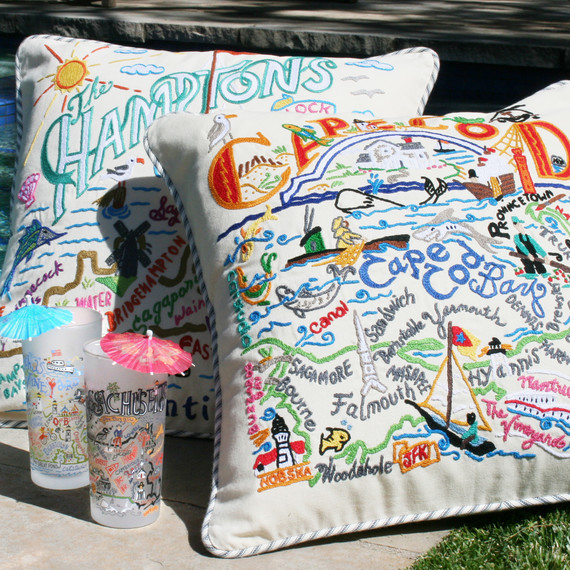 Catstudio Location Pillows and Glassware
