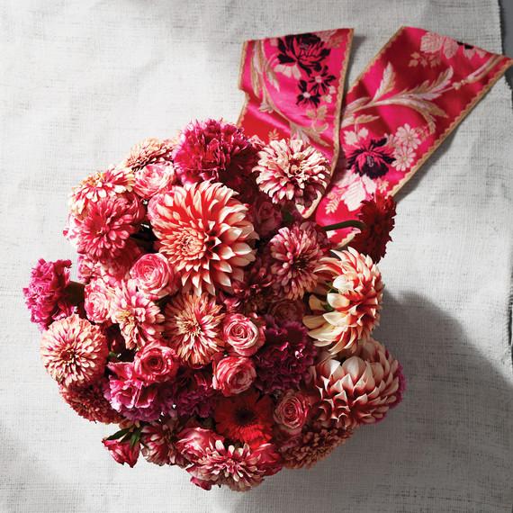 "Pink and Red ""Mazurkia"" Zinnia Bouquet"