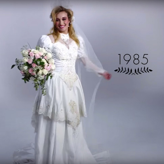 WATCH 100 Years Of Wedding Dresses In Just 3 Minutes Martha - Wedding Dress 100
