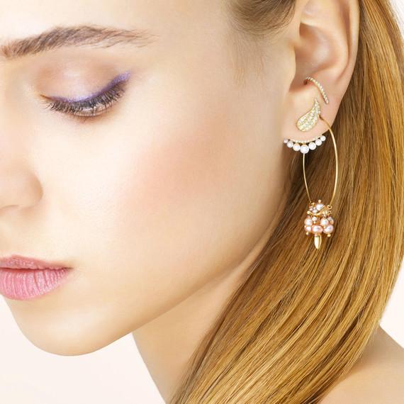 assorted huggies and earrings