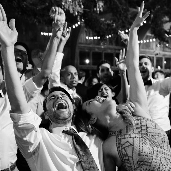 sanjay steven wedding dancing and cheering