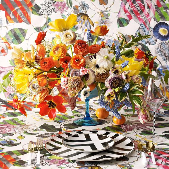ariella chezar bold floral arrangement