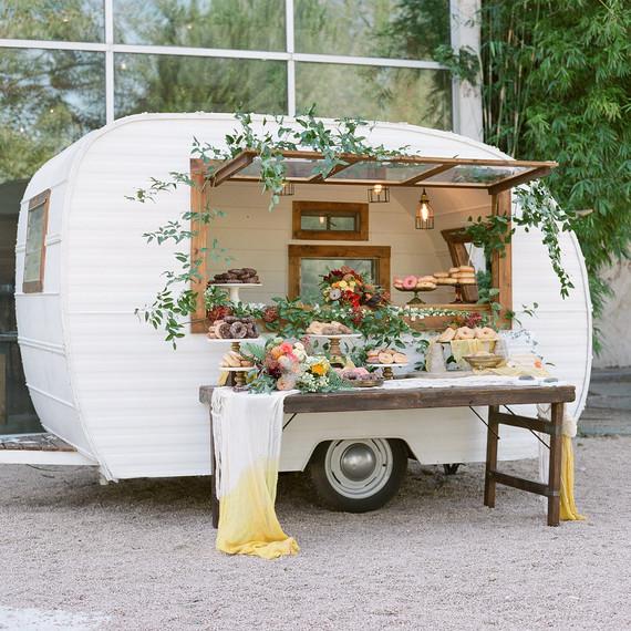 hayleigh corey wedding donuts trailer