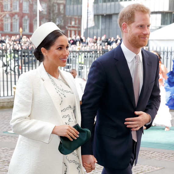 meghan markle and prince harry at the 2019 commonwealth day service