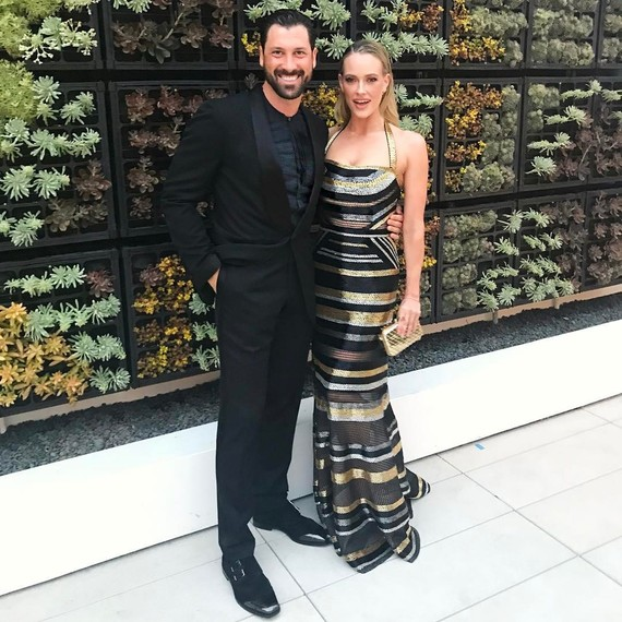 Peta Murgatroyd and Maks Chmerkovskiy attending a formal event