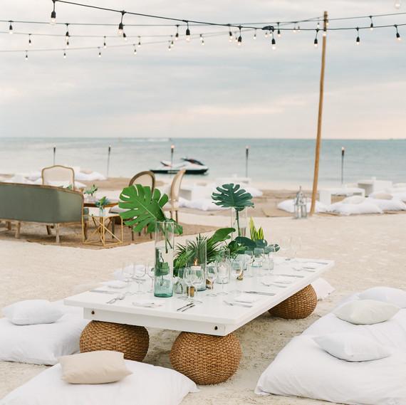 vicky james mexico floor pillows beach table