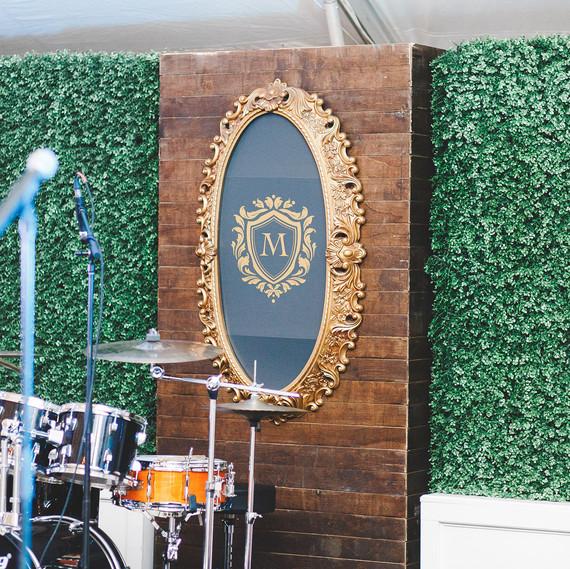 crest wedding decor megan burges photography