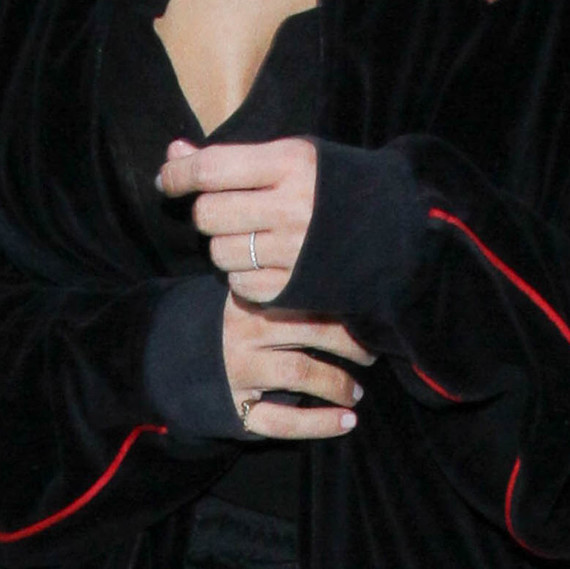 Kim Kardashian Wedding Ring Close Up