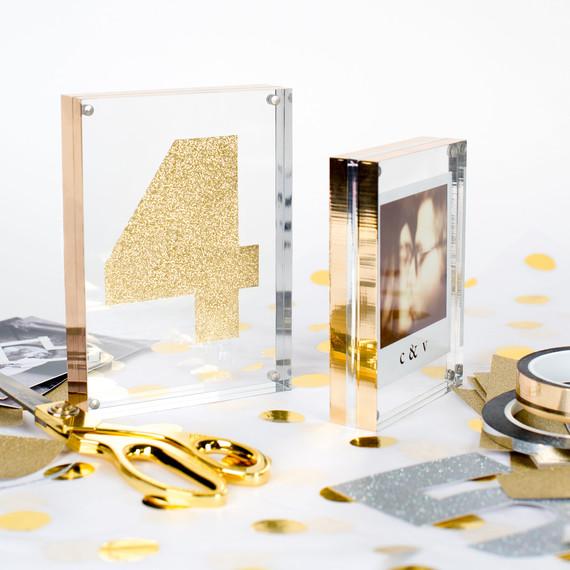 An Easy DIY We Love: Mylar-Wrapped Frames | Martha Stewart Weddings
