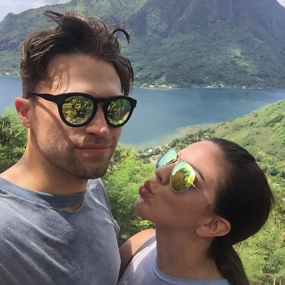 Katie Maloney-Schwartz and Tom Schwartz on Honeymoon in Moorea