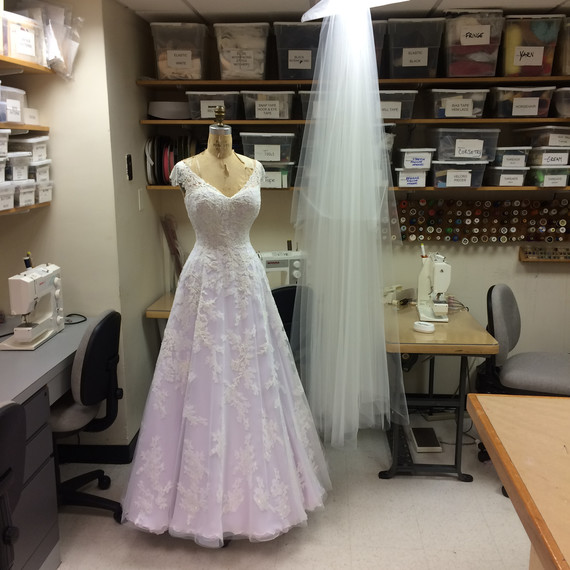 Lauren Roseman SNL Designer Wedding Dress