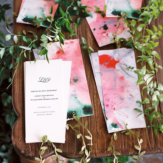 lindsey william wedding dc painted signs