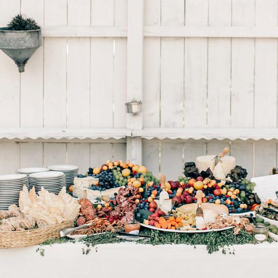 maggie zach wedding food station