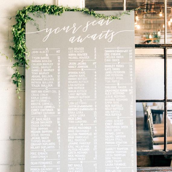 maggie zach wedding seating chart