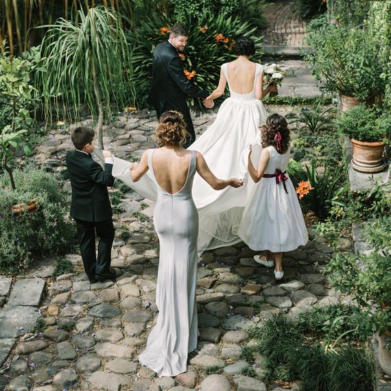 regina chris wedding walking