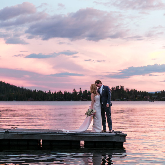 Wedding Sunset On Lake
