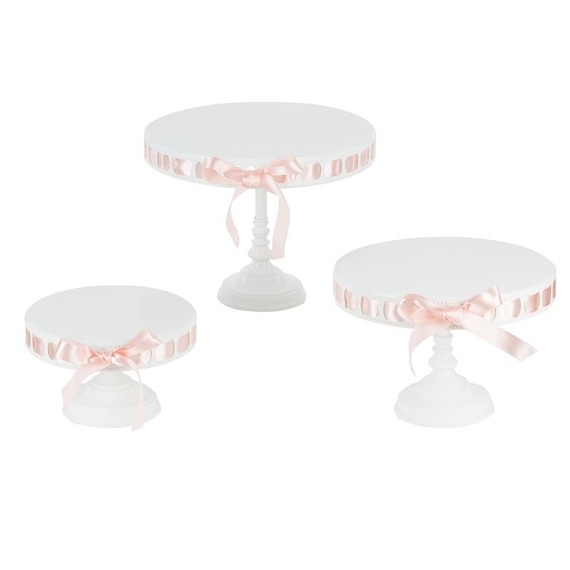 Summer Bridal Shower Gifts, Ribboned Cake Stand