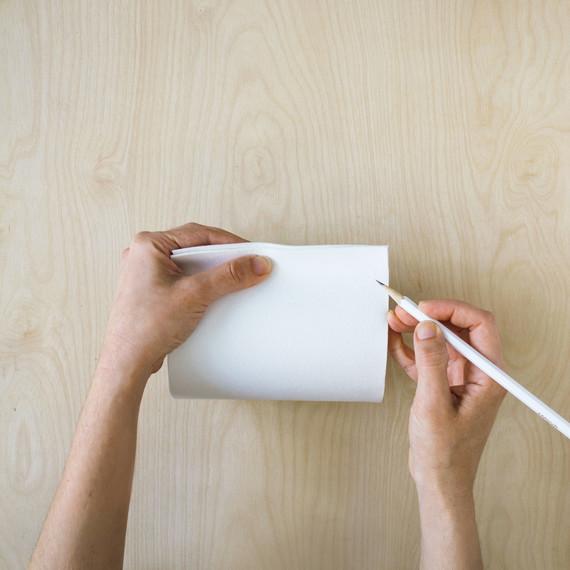 david stark design bookbinding vase step three
