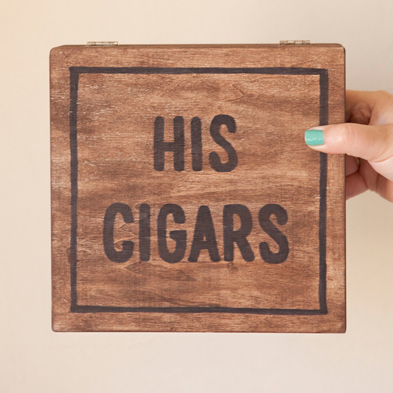 Grooms Cigar Box Martha Stewart Weddings