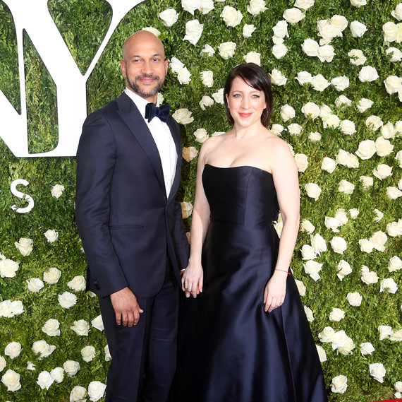 Keegan-Michael Key and Elisa Pugliese at 2017 Tony Awards