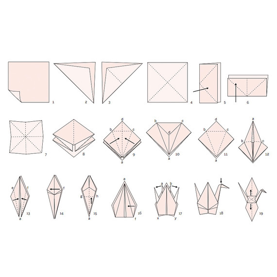 How To Make An Origami Crane For Your Wedding Martha Stewart Weddings