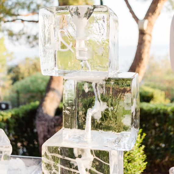 jiannina enzo wedding ice sculpture