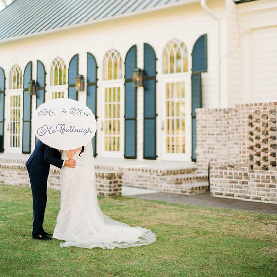 stefanie drew wedding couple parasol
