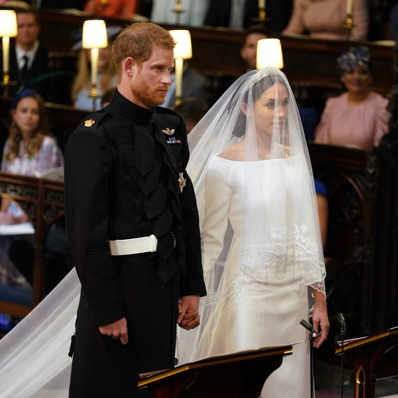 Prince Harry and Meghan Markle During Wedding Ceremony