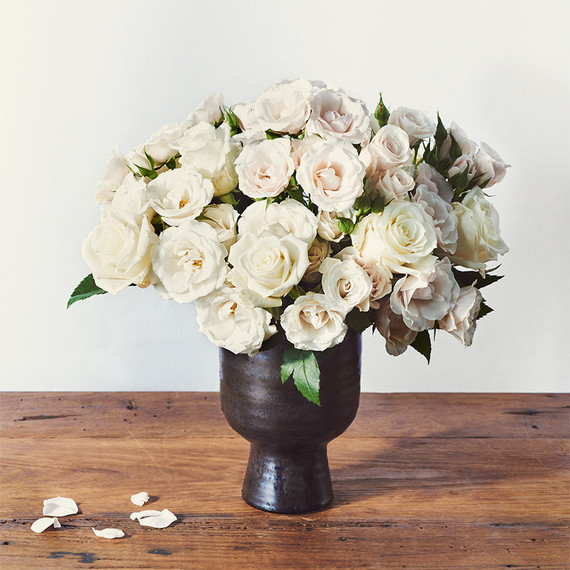 white rose holiday centerpiece