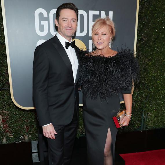 Hugh Jackman and Deborra-lee Furness 2018 Golden Globes