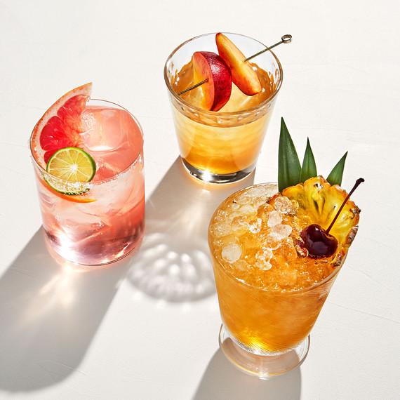 lowball cocktails paloma bourbon rye tai