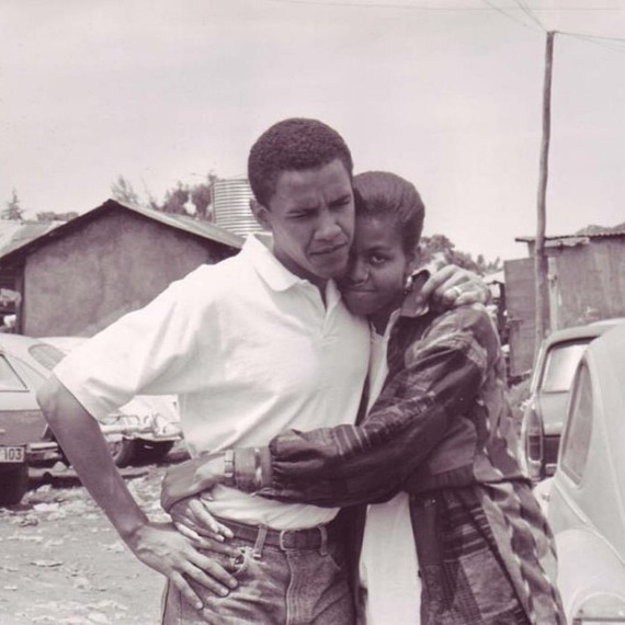 Michelle and Barack Obama Throwback