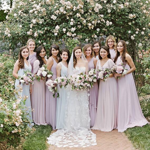 bride bridesmaids