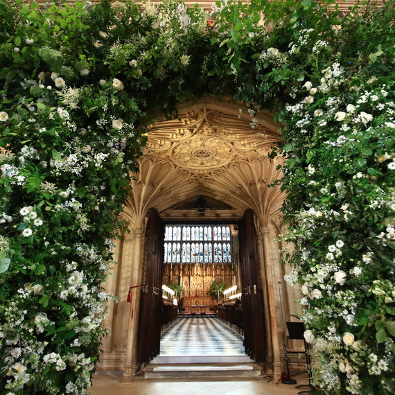 Royal Wedding Flowers Arch